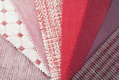 upholstery texture color samples Stock Photo