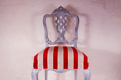 Upholstery work. Wooden chair painted with beautiful fabric Stock Images