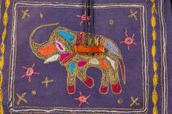 Upiększony słonia tło Zdjęcie Stock