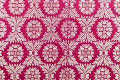 Upiększony tekstylny orientalny błyszczący handmade wzór robić nici Obrazy Royalty Free