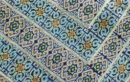 Upiększona tkaniny tekstura Zdjęcia Stock