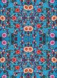 Upiększony kwiecisty wzór na tkaninie Obrazy Stock