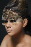 upierza portret latynoskiej kobiety Zdjęcie Stock