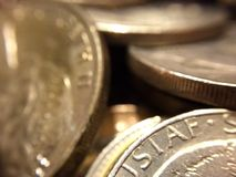 Łupiestwo srebne monety Zdjęcie Royalty Free