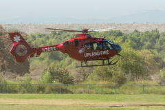 Upland Fire Department helicopter Stock Photos