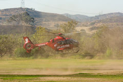 Upland Fire Department helicopter Stock Image