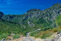 Sierra Guadalupe upland in baja california landscape panorama Royalty Free Stock Photography
