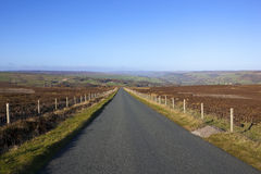 Upland road in autumn Stock Photography