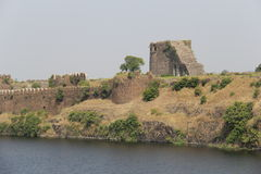 Upli Burj of fort Naldurg. Highest observation point called Upli Burj at historical Naldurg fort in Osmanabad, India Stock Photo
