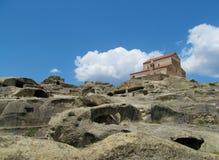Upliscikhe洞城市和教会在乔治亚 库存照片