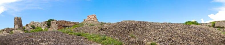 панорама жилища подземелья губит uplistsikh городка стоковые изображения rf