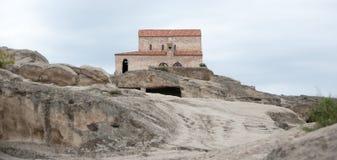 Uplistsikhe ancient rock-hewn town Royalty Free Stock Photo