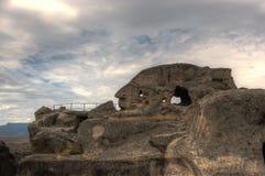 Uplistsikhe ancient rock-hewn town Stock Photo