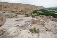 Uplistsikhe ancient rock-hewn town Royalty Free Stock Images