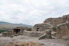 Uplistsikhe ancient rock-hewn town Stock Image