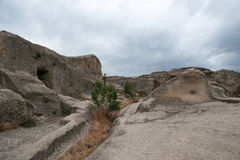 Uplistsikhe ancient rock-hewn town Stock Images