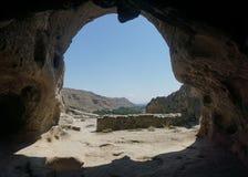 Uplistsikhe Cave Exit Landscape View stock photo