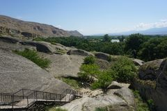 Uplistsikhe Common Landscape View from Above royalty free stock image