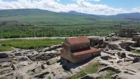 Uplistsikhe es una ciudad roca-cortada antigua en Georgia del este metrajes
