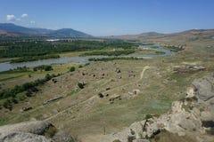 Uplistsikhe Fortress and Housing Ruins royalty free stock photo