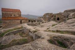 Uplistsikhe jamy prehistoryczni domy zdjęcia royalty free