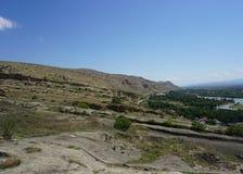 Uplistsikhe Mountain Landscape Common View stock image