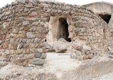 Uplistsikhe oude rots-gehouwen stad Stock Foto's