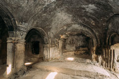 Uplistsikhe, Shida Kartli region, Gruzja Pojedynczy Szpaltowy Hall Zdjęcia Royalty Free
