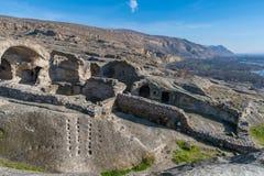 Uplistsikhe, una città roccia-spaccata antica in Georgia orientale Immagini Stock Libere da Diritti