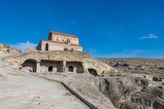 Uplistsikhe, una città roccia-spaccata antica in Georgia orientale, est Immagine Stock Libera da Diritti