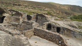 Uplistsikhe ? una citt? roccia-spaccata antica nella Georgia orientale stock footage