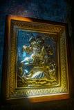 Uplistsikhekerk Heilige George Icon royalty-vrije stock afbeeldingen