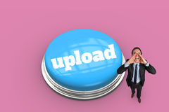 Upload against pink vignette Royalty Free Stock Photos
