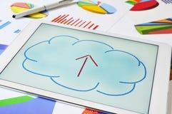 Upload alla nube immagine stock