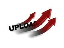Upload arrow Stock Photo