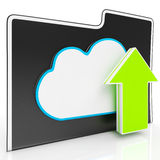 Upload Arrow And Cloud File Showing Uploading. By Ftp Royalty Free Stock Photos