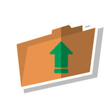 Upload arrow of digital concept. Upload arrow and file icon. Digital web application and technology theme. Isolated design. Vector illustration Royalty Free Stock Image