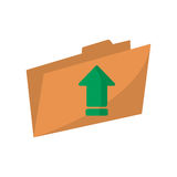 Upload arrow of digital concept. Upload arrow and file icon. Digital web application and technology theme. Isolated design. Vector illustration Royalty Free Stock Photos