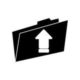 Upload arrow of digital concept. Upload arrow and file icon. Digital web application and technology theme. Isolated design. Vector illustration Royalty Free Stock Photo