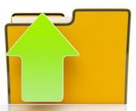 Upload Arrow And File Shows Uploaded. Upload Arrow And File Shows Uploading Using Ftp Stock Images