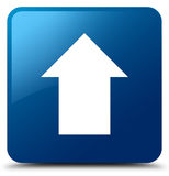 Upload arrow icon blue square button Royalty Free Stock Image