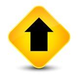 Upload arrow icon elegant yellow diamond button Stock Images