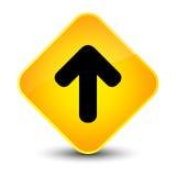Upload arrow icon elegant yellow diamond button Royalty Free Stock Images