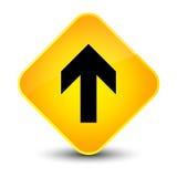 Upload arrow icon elegant yellow diamond button Royalty Free Stock Photos