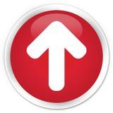 Upload arrow icon premium red round button Stock Image
