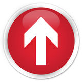 Upload arrow icon premium red round button Royalty Free Stock Image
