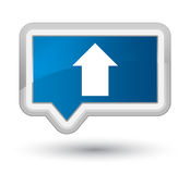 Upload arrow icon prime blue banner button Stock Image