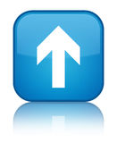 Upload arrow icon special cyan blue square button Royalty Free Stock Images