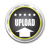 Upload button Royalty Free Stock Photo