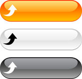 Upload button. Upload glossy buttons. Three color version Stock Image